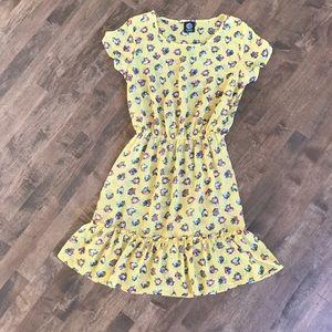 Bobeau sheer overlay dress